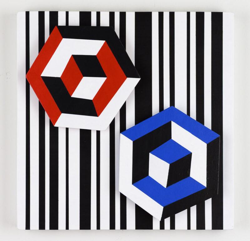 Red, blue, black, white